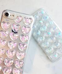 mb-iphone-02367 ホログラム入り プチプチハート iPhoneケース