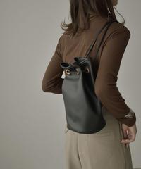 bag2-02538  エコレザー 3way巾着バッグ ブラック ベージュ キャメル