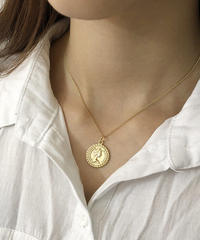 mb-necklace2-02009 SV925 タイプ2 コインチャームネックレス