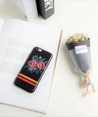mb-iphone-02276 ローズ ブラック iPhoneケース