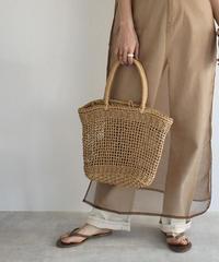 bag2-02495 透かし編み かごバッグ