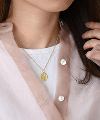 mb-necklace2-02032 SV925 フェイスモチーフ ネックレス シルバー925  ゴールド