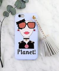 mb-iphone-02284 タイプB Planet! オシャレガール  スタッズ  タッセル付き iPhoneケース