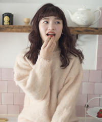 baby mohair knit (Baby pink)