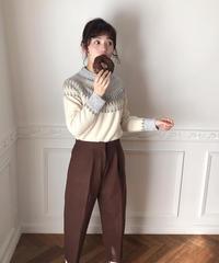 melton pants (choco)