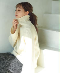 over turtle knit(white)