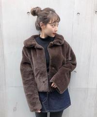 sygne fur coat(brown)
