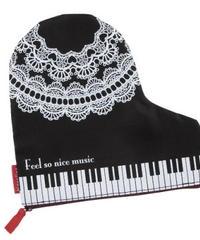 MZ006 ピアノイラストの ポーチ