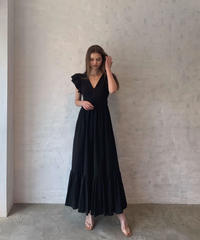 Shoulder frill DRESS