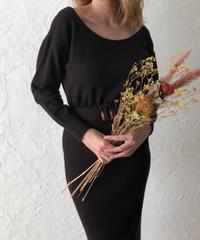 Back cache coeur knit dress