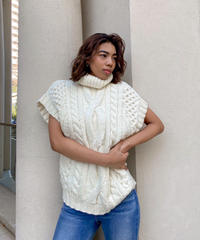 Cable knit over vest