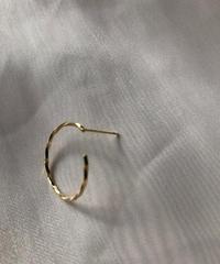 10K Gold spiral hoop pierce