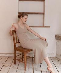 Back conscious rib knit dress