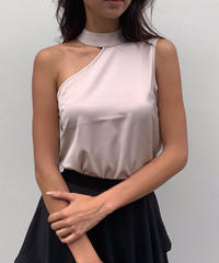 One-shoulder Silky Tops