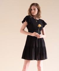 Airy frill mini dress