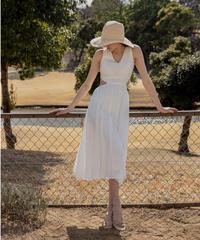 Side open midi dress
