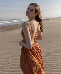 Open back cotton camisole dress
