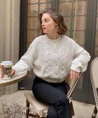 Cotton cabel over cardigan