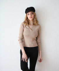 Liberté henry neck knit