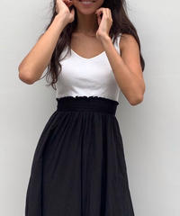 Combination flare dress
