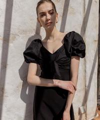 Ribbon short tops×Linen line dress