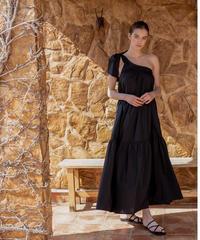 One shoulder tiered dress