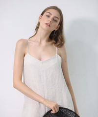 Linen camisole rompers