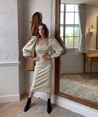 Cross design knit dress
