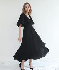 Gather Belt Flare Dress