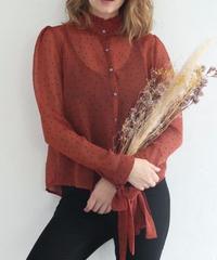 Dot chiffon blouse