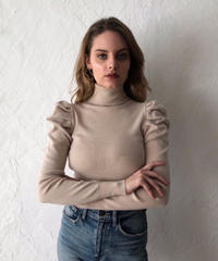 Tack shoulder KNIT TOPS