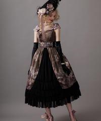 【Lサイズ】Antique bouquet ジャンパースカートⅡ