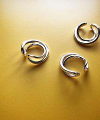 metal twist circle ear cuff