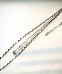 【silver925 】two line choker necklace