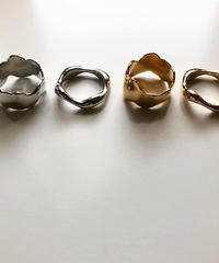 metal wave ring set