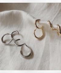 metal double hoop ear cuff pierce