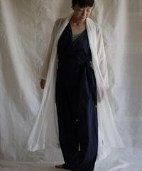 moon circle cotton HAORI coat WHITE