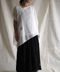 kaya linen asymmetry PO WHITE