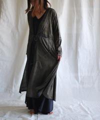 rayon moon KIMONO coat silver