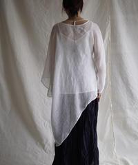 kaya linen PO one sleeve  WHITE