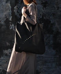 cotton Big tote BAG black