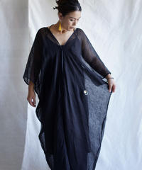 kaya linen wide OP  BLACK