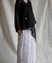 kaya linen PO one sleeve  BLACK