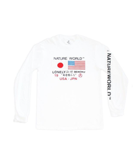 "LONELY BEIKOKU ×NATURE WORLD  ""FLAG EMBROIDERY"" LONG SLEEVE"