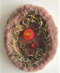 オーバルの壁飾り Helichrysum