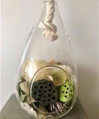 ハンギングガラス&木ノ実アソートセット(S)Green/White