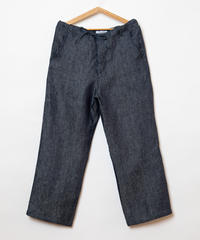 7 oz linen denim wide pants