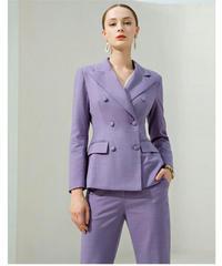 セットアップスーツ/ピークドラペルダブルボタンジャケット+パンツ