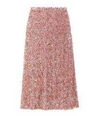 リュクスな輝きキラキラスパンコールロングペンシルスカート