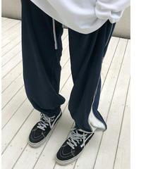 サイドジップバイカラー調節可能/ベロアジョガーパンツ2色